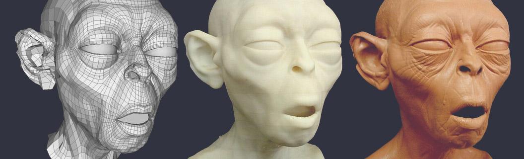 Digital Sculpting 3D Printed