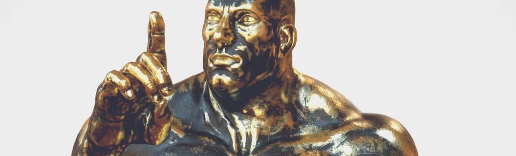Gold Modern Statue